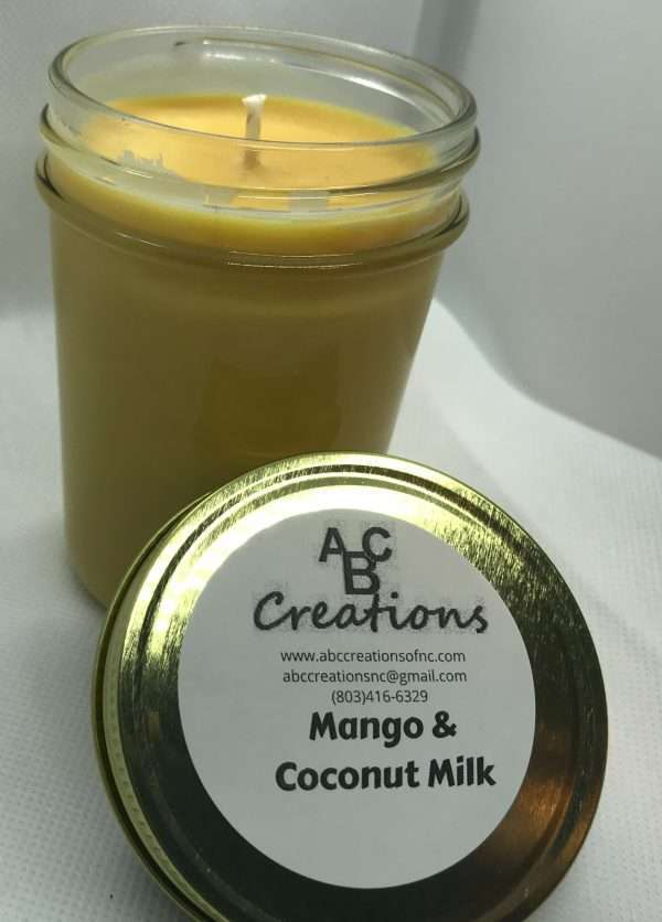Mango And Coconut Milk Soy Candle